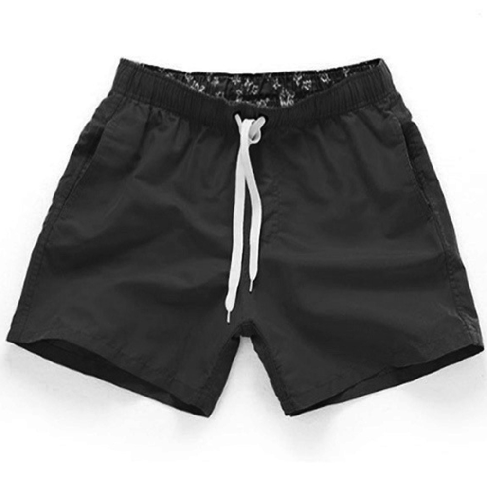Men Summer Soft Beach Swimming Short Pants black_3XL