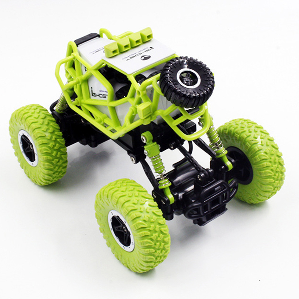 1:43 4WD RC Off-Road Vehicles with Lights 2.4G Charging Climbing Car Toys for Children