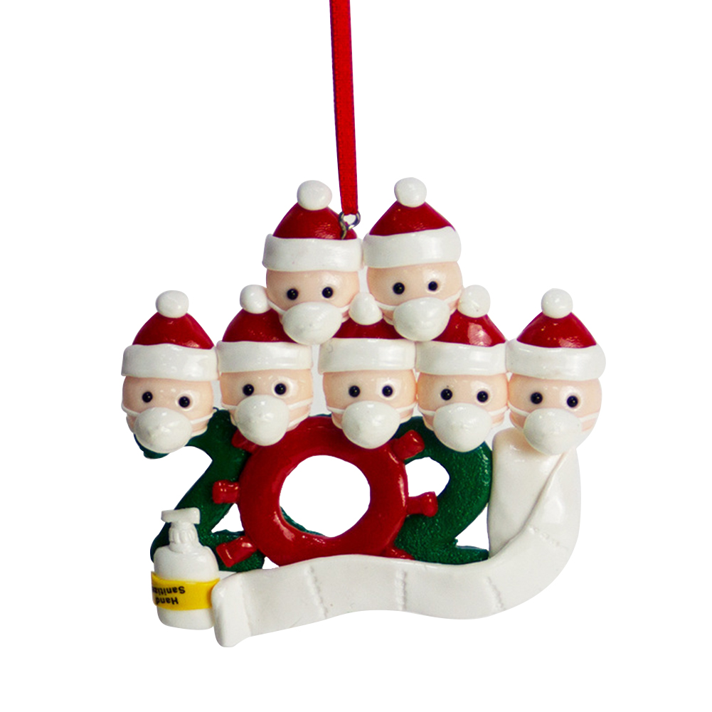 Personalized Name Christmas Ornament kit with Mask for Family Christmas Decor 7 snowmen
