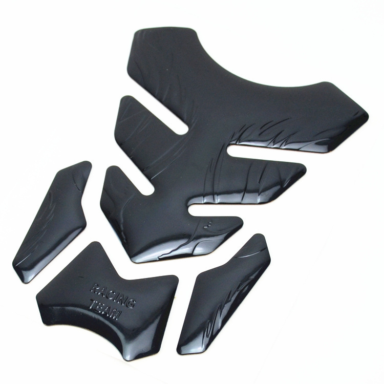 3D Motorcycle Fuel Decal Pad Protector Cover Sticker Decoration Decals black