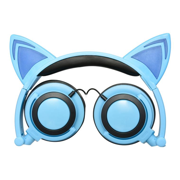 Head-mounted Foldable Cat Ear Headphone