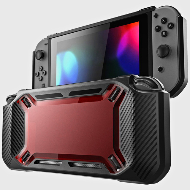 for Nintend Switch Case Rugged Protective Hard Shell red
