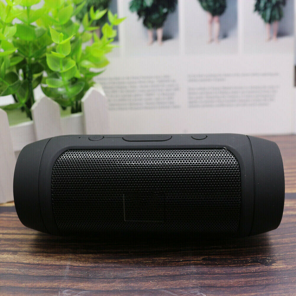 Mini Bluetooth Speaker Wireless Outdoor Stereo Bass Loudspeaker USB TF FM Radio black