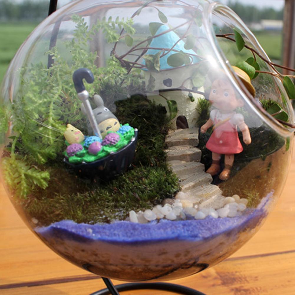 Micro Landscape Ecological Bottle Transparent Flowerpot Hanging Glass Vase Handicraft Home Decoration Transparent_10 * 10 * 10cm