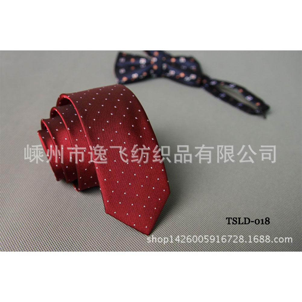 5cm Skinny Tie Classic Silk Solid Dot Narrow Slim Necktie Accessories Wedding Banquet Host Photo TSLD-018