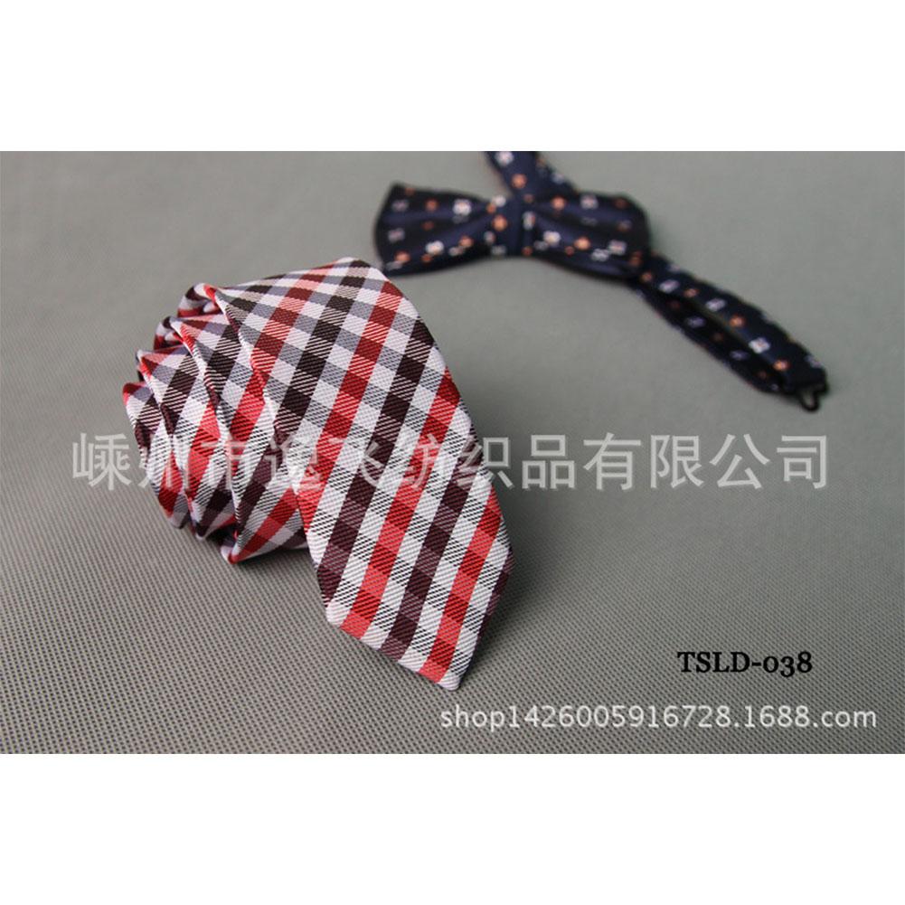 5cm Skinny Tie Classic Silk Solid Dot Narrow Slim Necktie Accessories Wedding Banquet Host Photo TSLD-038
