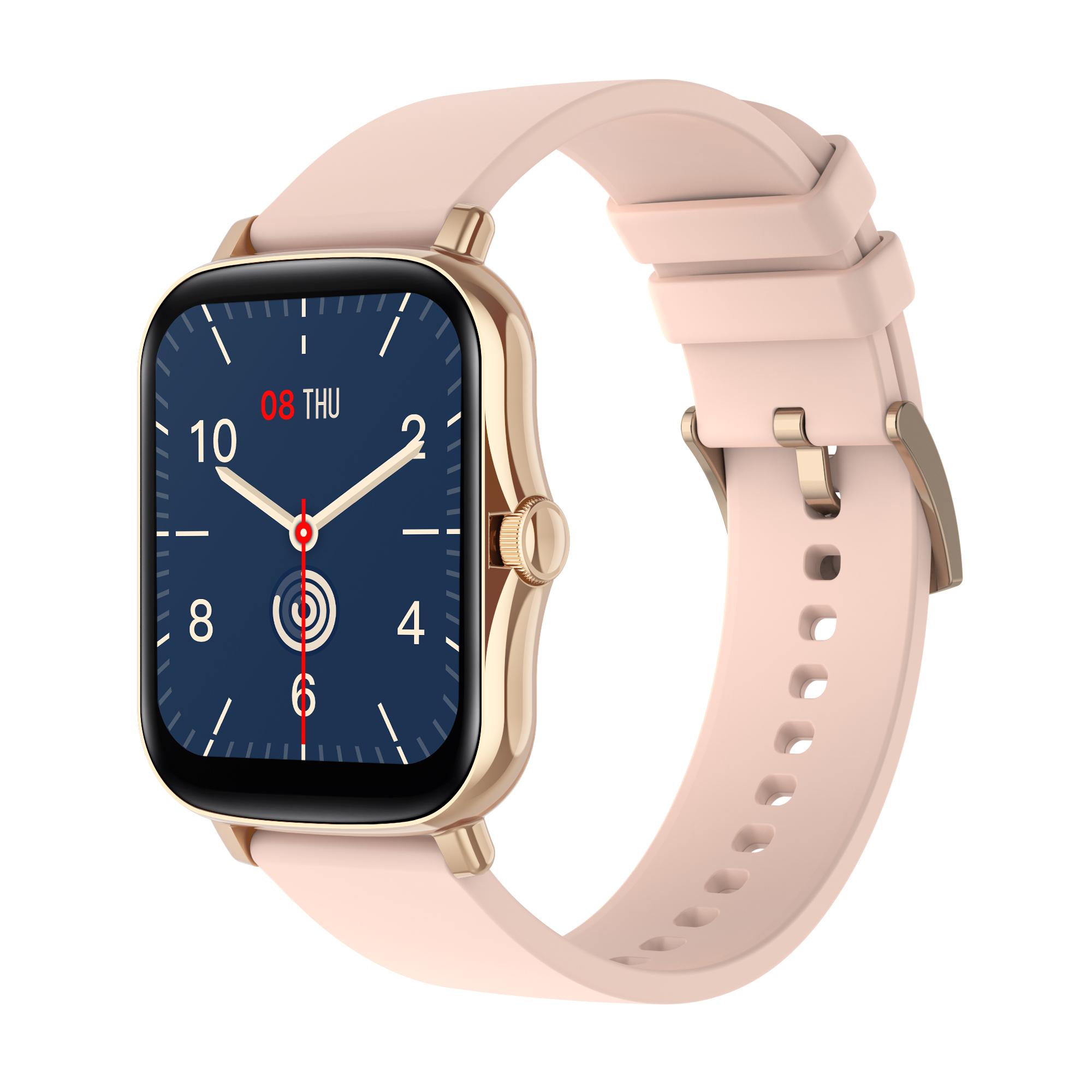 1.7 Inch HD Screen Y20 Smart Watch Men Rotate Button IP67 Waterproof Smartwatch Rose gold