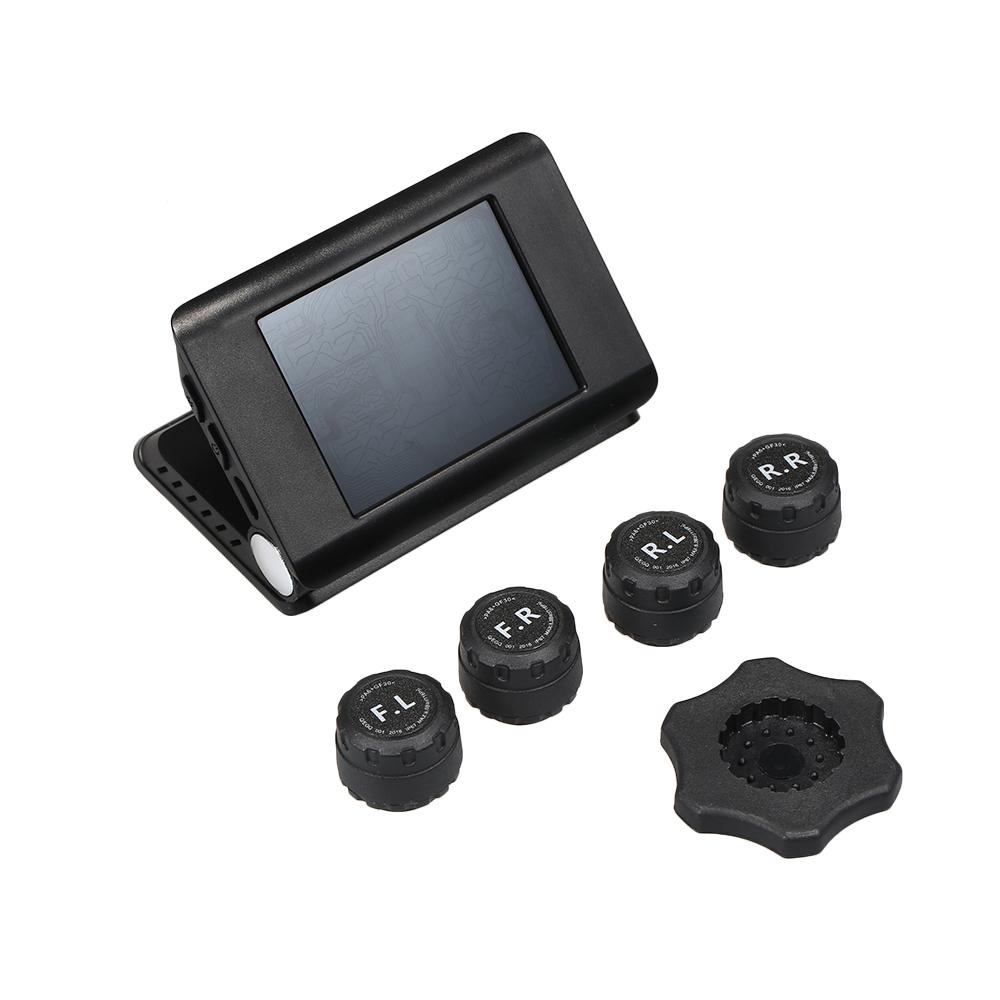 5pcs Wireless Solar Car TPMS Tire Pressure Monitor Foldable Tire Pressure Control System for Windshield Auto SUV Car
