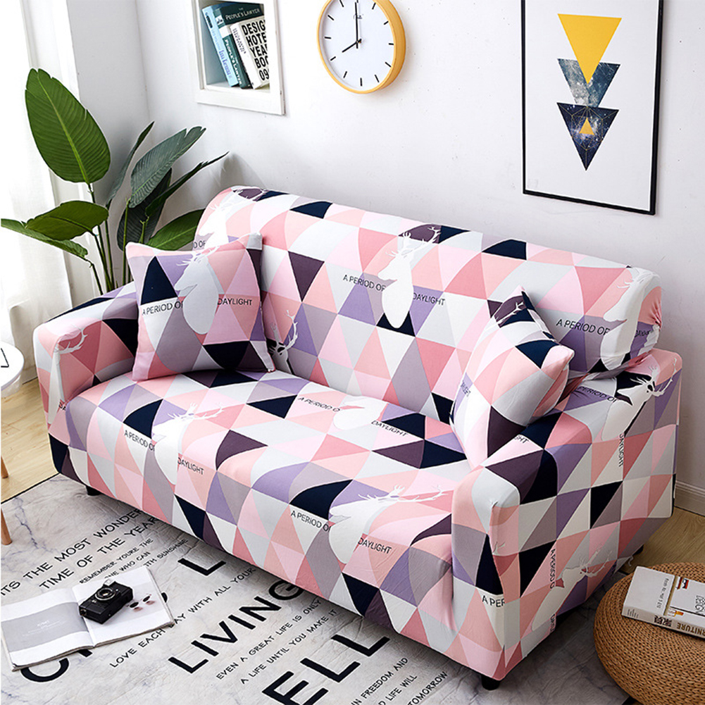 Stretch Slipcover Elastic Stretch Sofa Cover with Pillowcase for Living Room Couch Cover Double (145-185cm applicable)