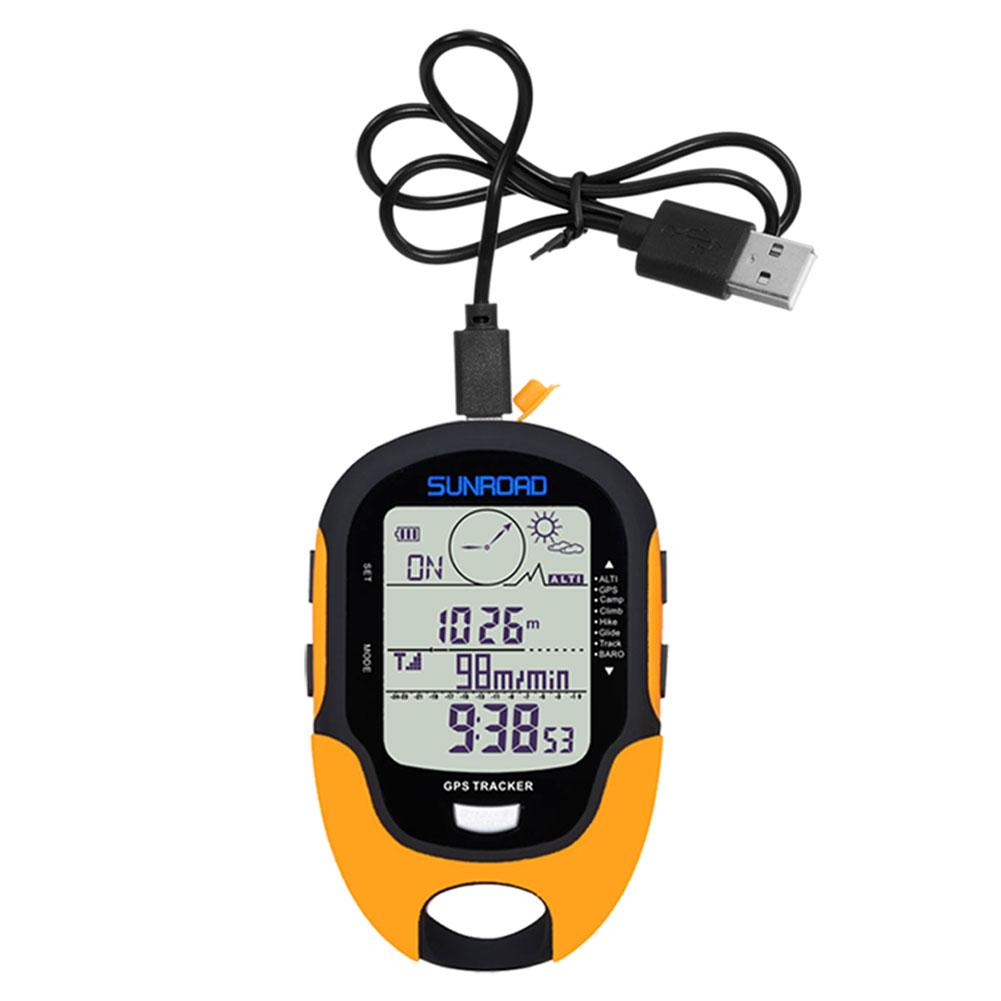 GPS Navigation Tracker Sport Digital Watch Army Hours Running Military Altimeter Barometer Compass Locator FR510
