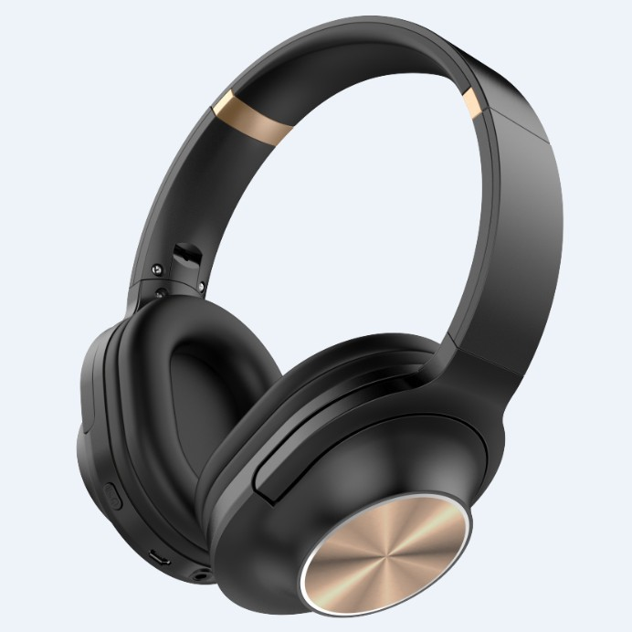 3700A Wireless Bluetooth headset Microphone Game Foldable Double Bass Stereo Headset  gold