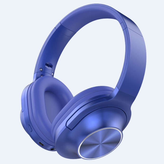 3700A Wireless Bluetooth headset Microphone Game Foldable Double Bass Stereo Headset blue