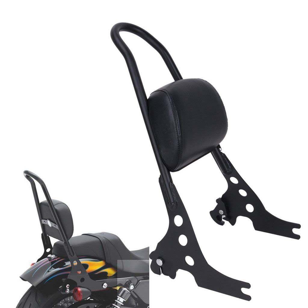 Motorcycle Passenger Backrest Sissy Bar Cushion Pad for  Sportster XL883 1200 48 04-15 black