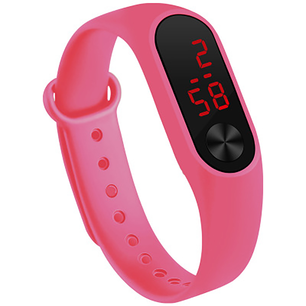 LED Simple Watch Hand Ring Watch Led Sports Fashion Electronic Watch Pink