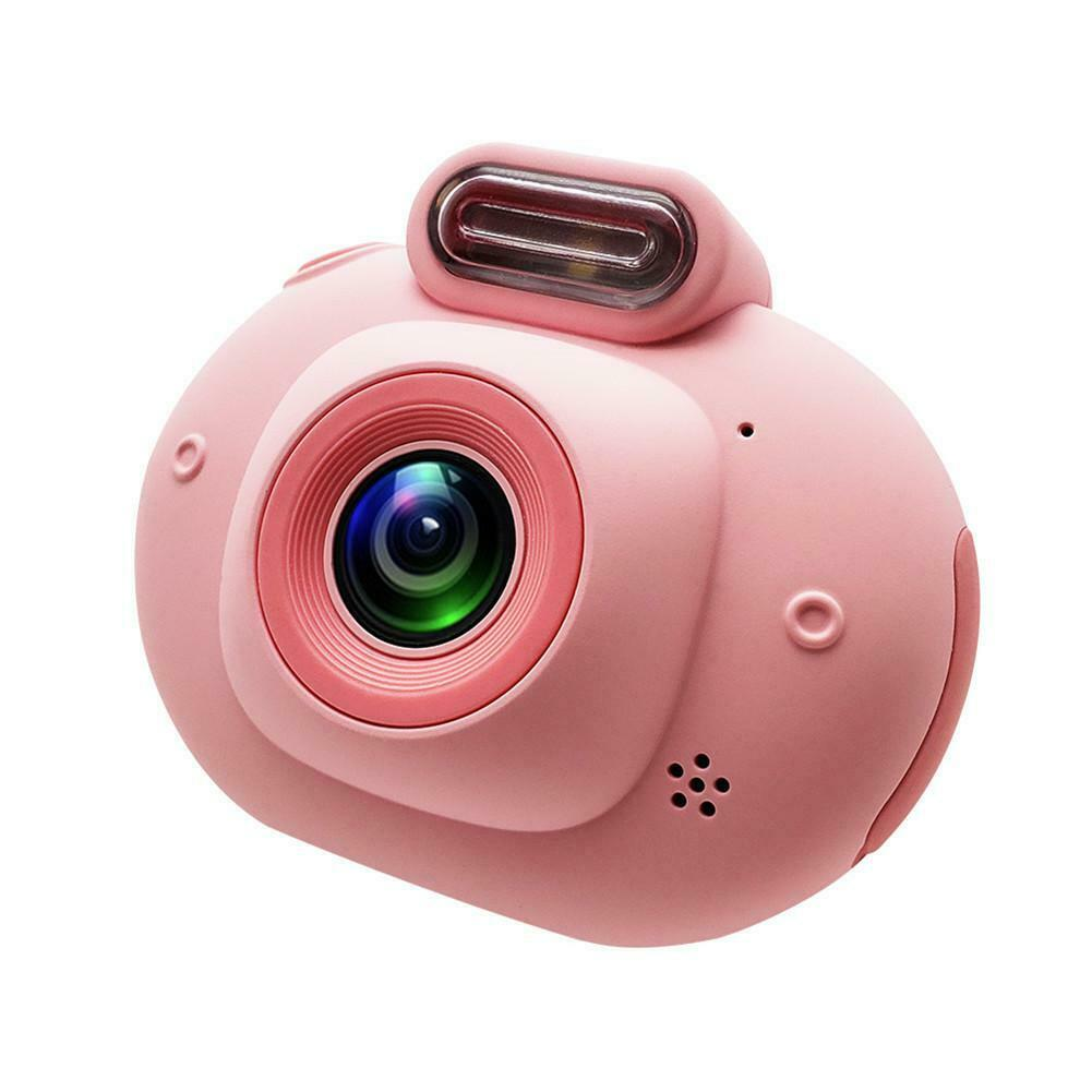 Children's Digital Camera 2.0inch IPS HD 1080p Mini Camcorder VCR Perfect Children Gift Pink