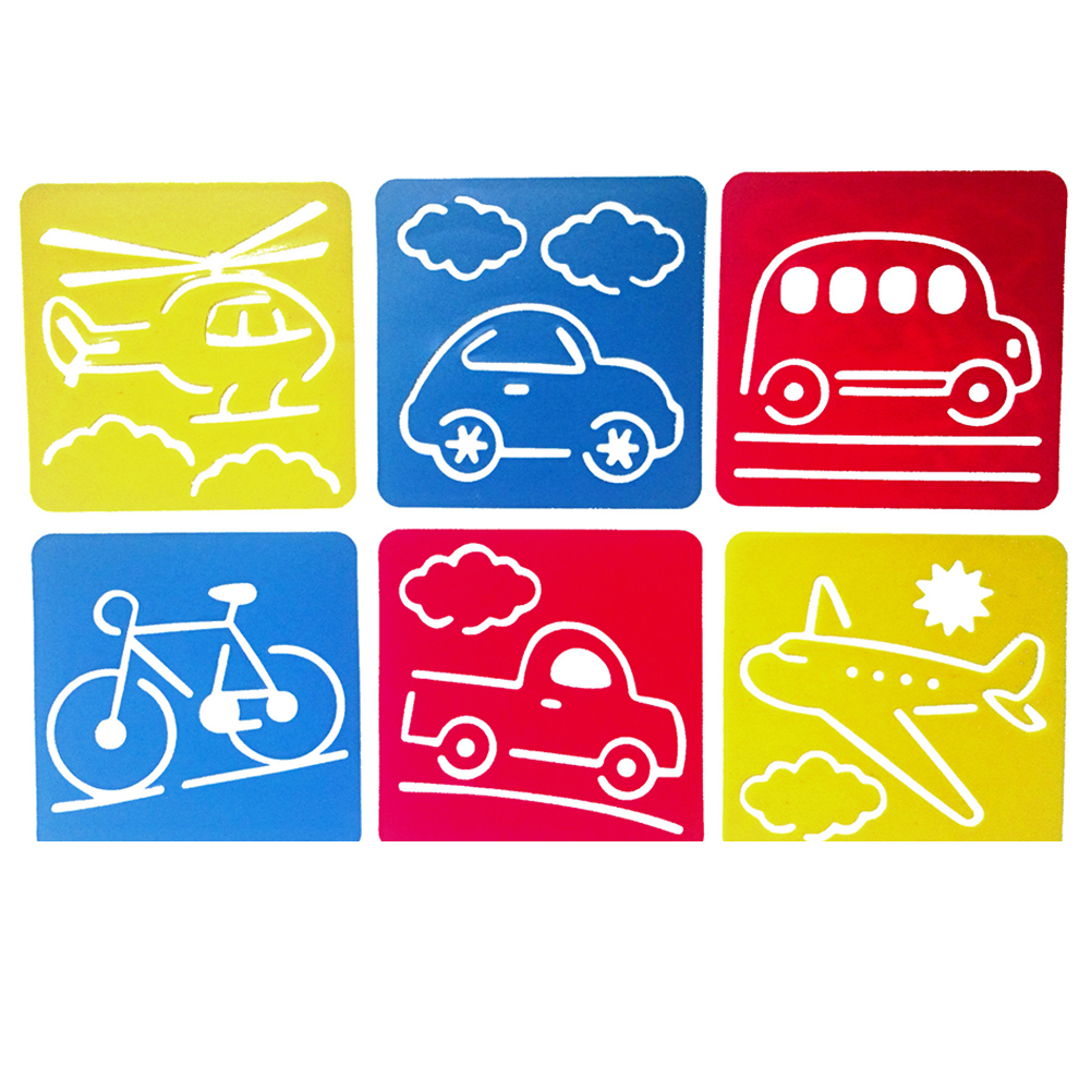 6Pcs Drawing Board Copy Board Diy Christmas Color Painting Toy for Kids H-02