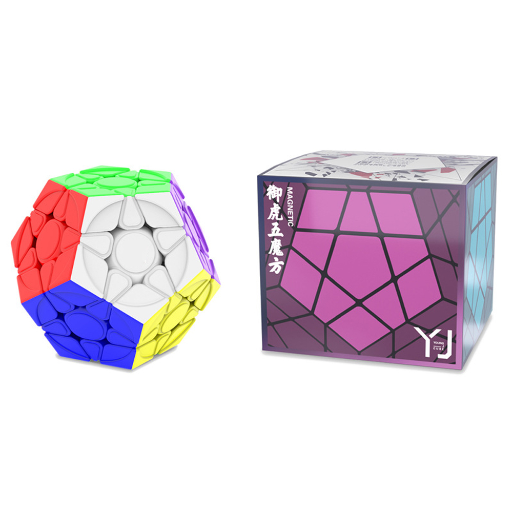 Yongjun Magic Cube Yuhu M Magnetic Megaminx Magic Cube Smooth Speed Cube Educational Toy color