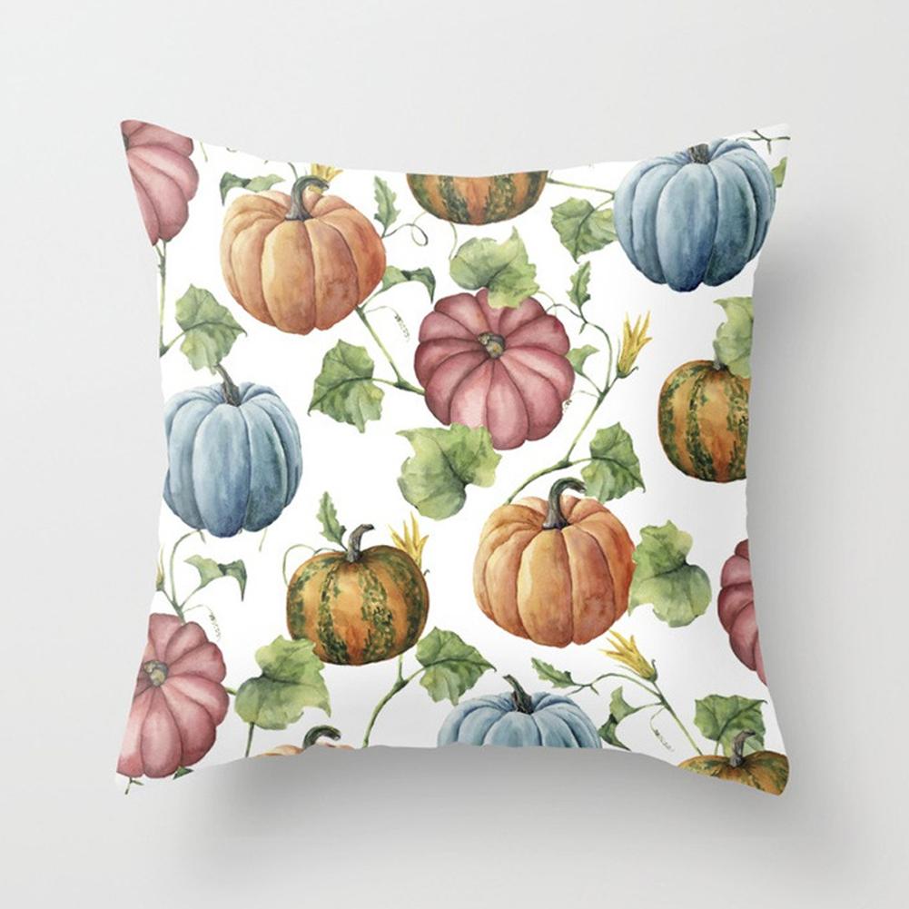 Thanksgiving Day Pumpkin Printed Throw Pillow Cover Pillowcases Decorative Sofa Cushion Cover DRD85-5_45*45cm