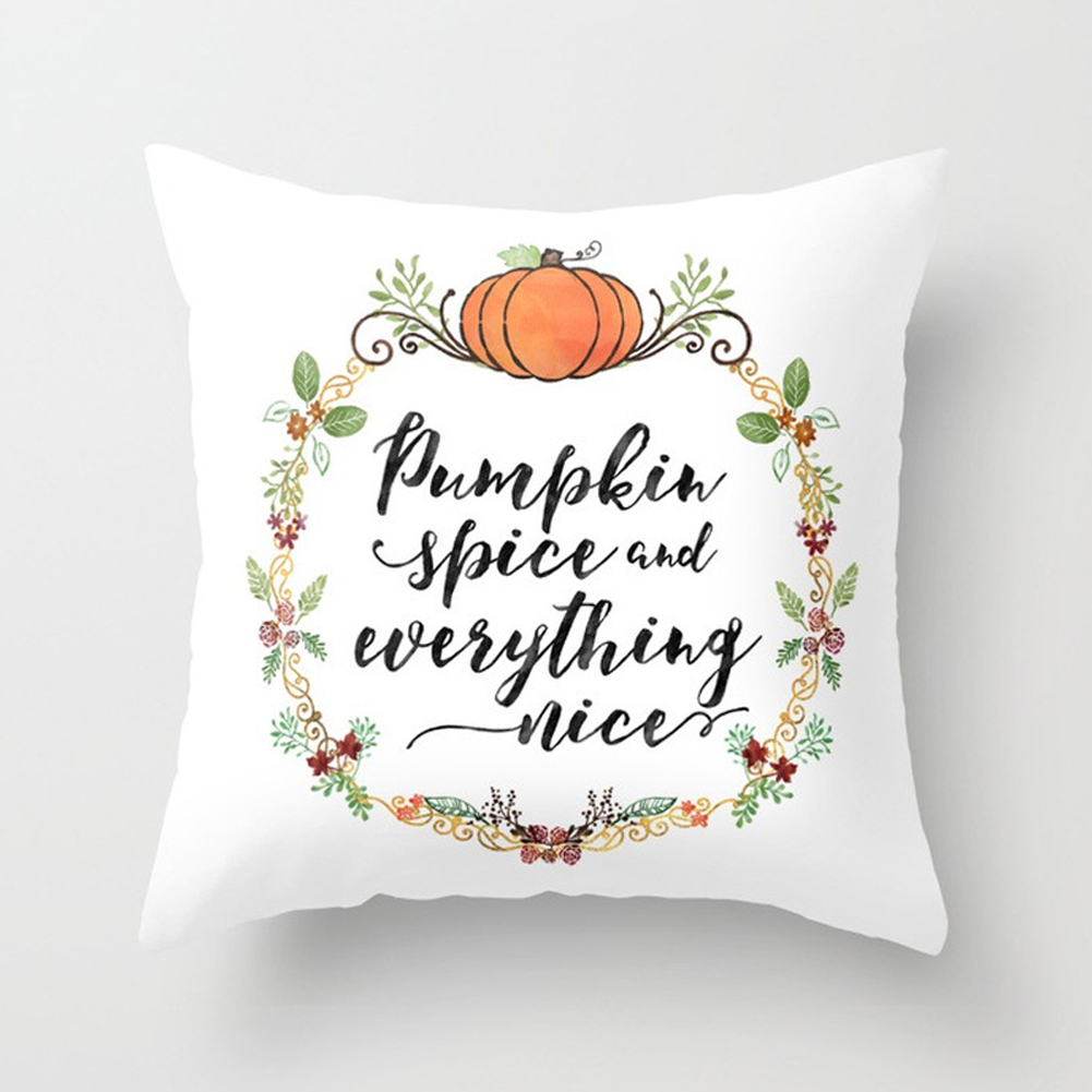 Thanksgiving Day Pumpkin Printed Throw Pillow Cover Pillowcases Decorative Sofa Cushion Cover DRD85-2_45*45cm