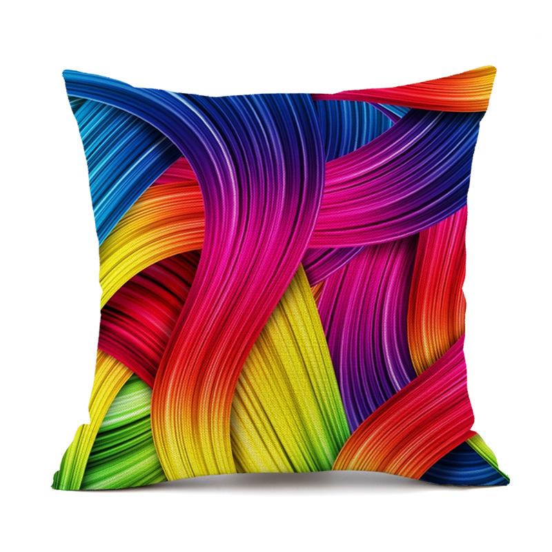 Linen Geometric Pattern Cushion Cover Throw Pillow  Cover  for  Sofa Chair  Home Decor  Pillowcase  45*45cm  (18in*18in) 4