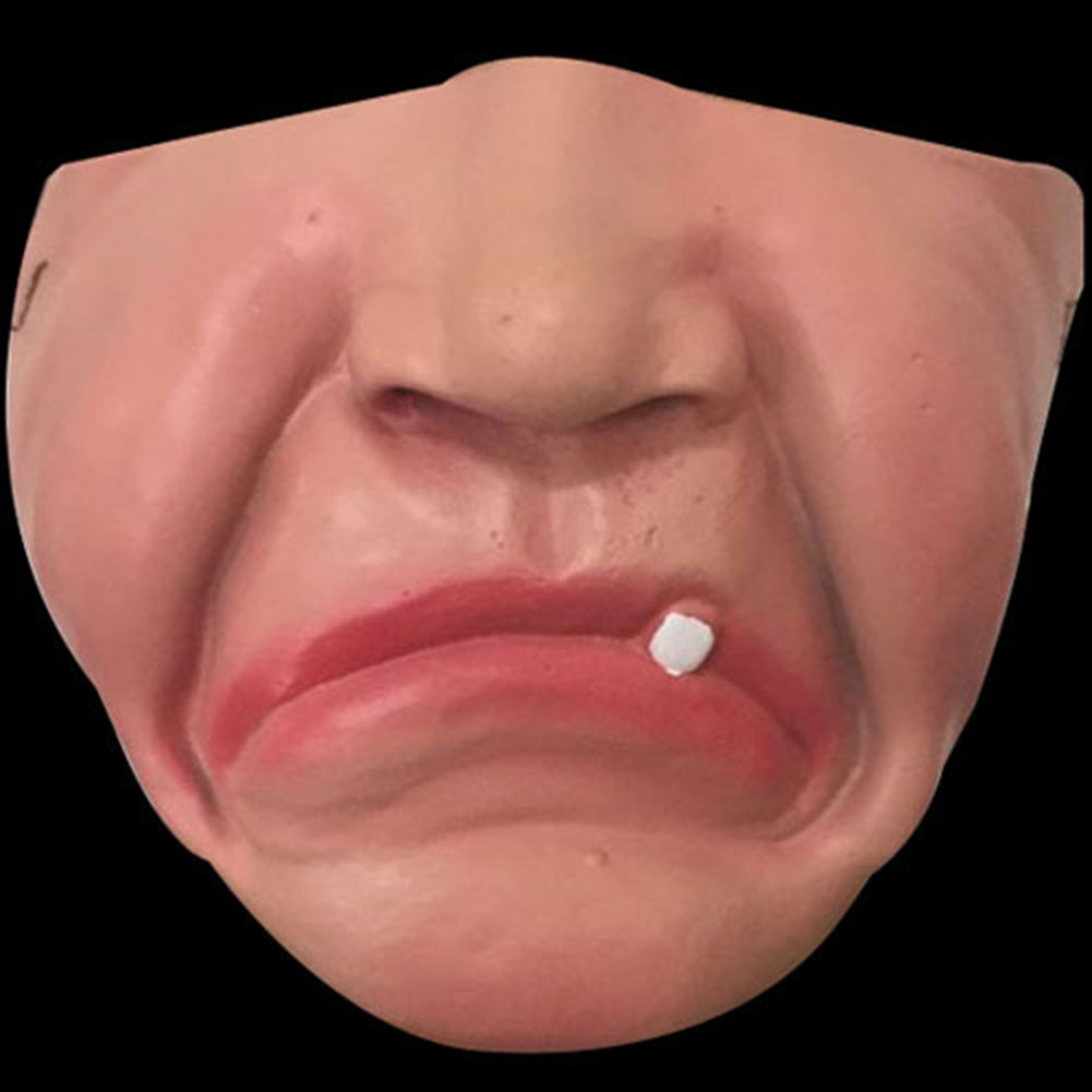 Halloween Mask Children Adult Half Face Mask / Bar Dance Party Funny Red Lip Mask