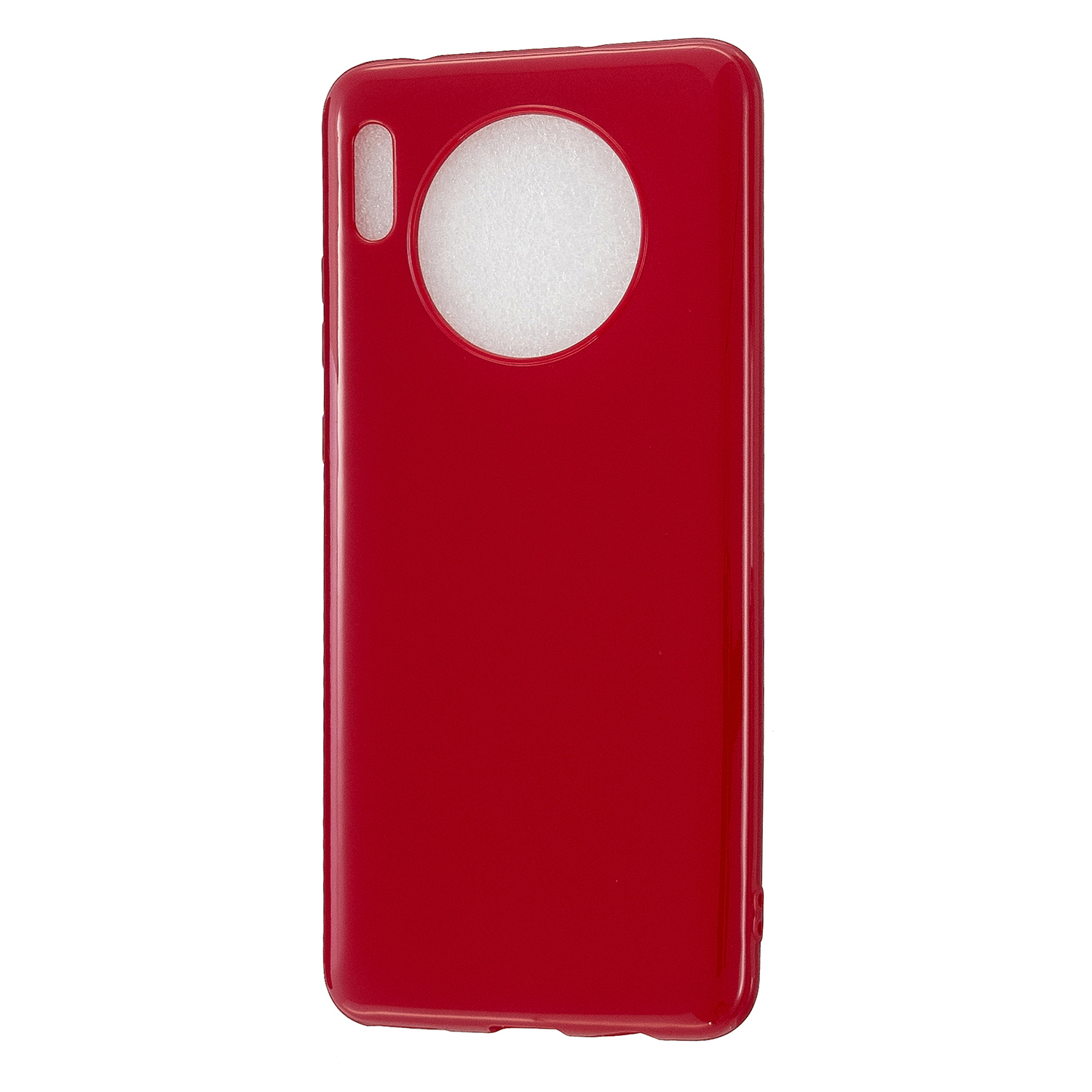 For HUAWEI Mate 30/30 Lite/30 Pro Cellphone Case Simple Profile Soft TPU Shock-Absorption Phone Cover Rose red