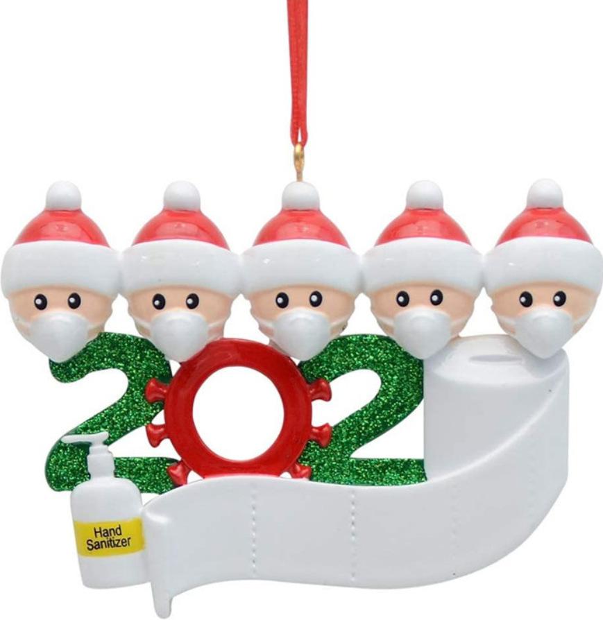 Christmas Ornament Kit DIYName Blessing Hanging Pendant Gift White family of 5