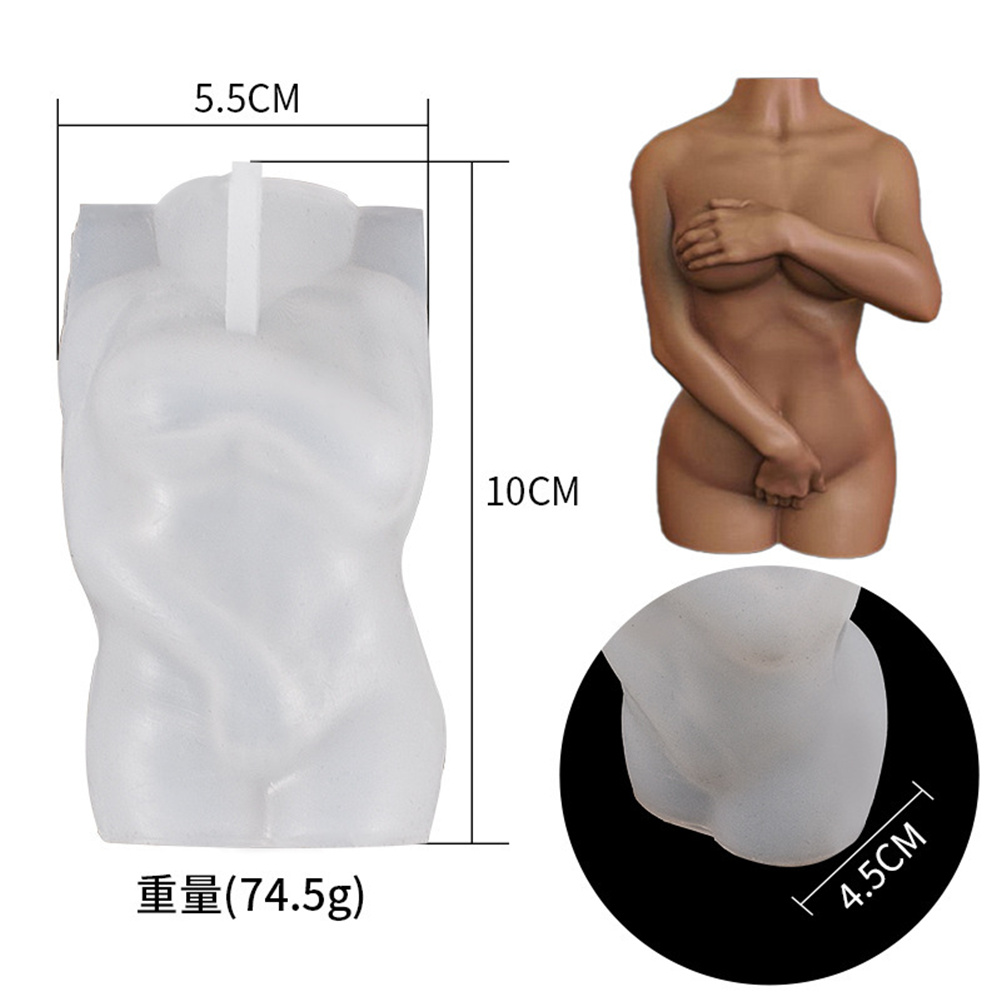 Silicone Candle  Mold Artificial Human Body Shape Mould For Paraffin Wax Man holding hands