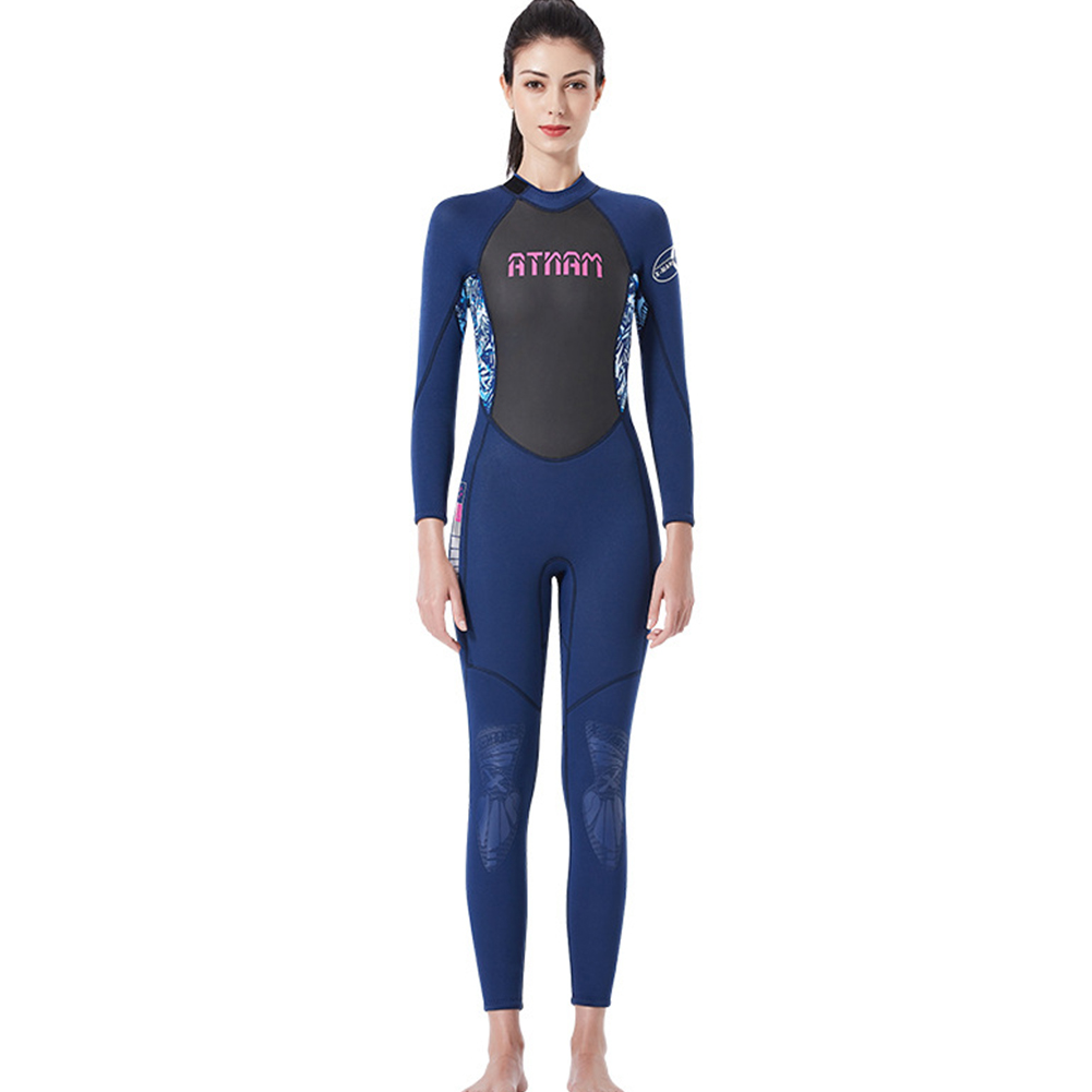 Diving Suit 3M Siamese Long Sleeve High Elastic Warm Anti Jellyfish Diving Suit Blue/blue camouflage_L