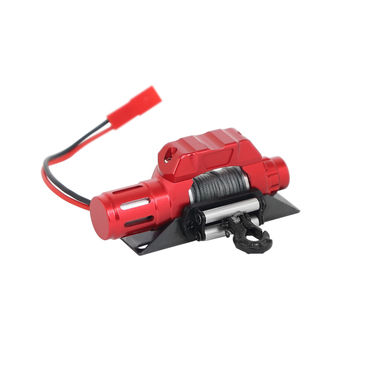 Automatic Simulated Winch for 1/10 RC Crawler Car Axial SCX10 90046 D90 TRX4 red
