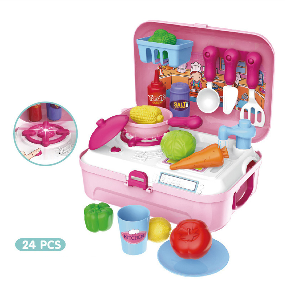Children Pretend Playing Set Portable Suitcase Kitchen Repair Tools Medical Tool Kids Gifts