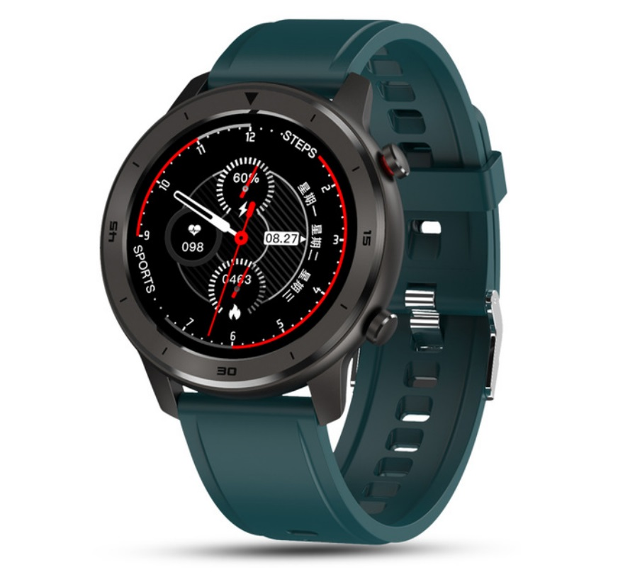 DT78 Smart Watch Sports Smartwatch Fitness Bracelet B1.3inch Full Touch Screen 230mAh Battery IP68 Waterproof Health Monitor Green silicone band