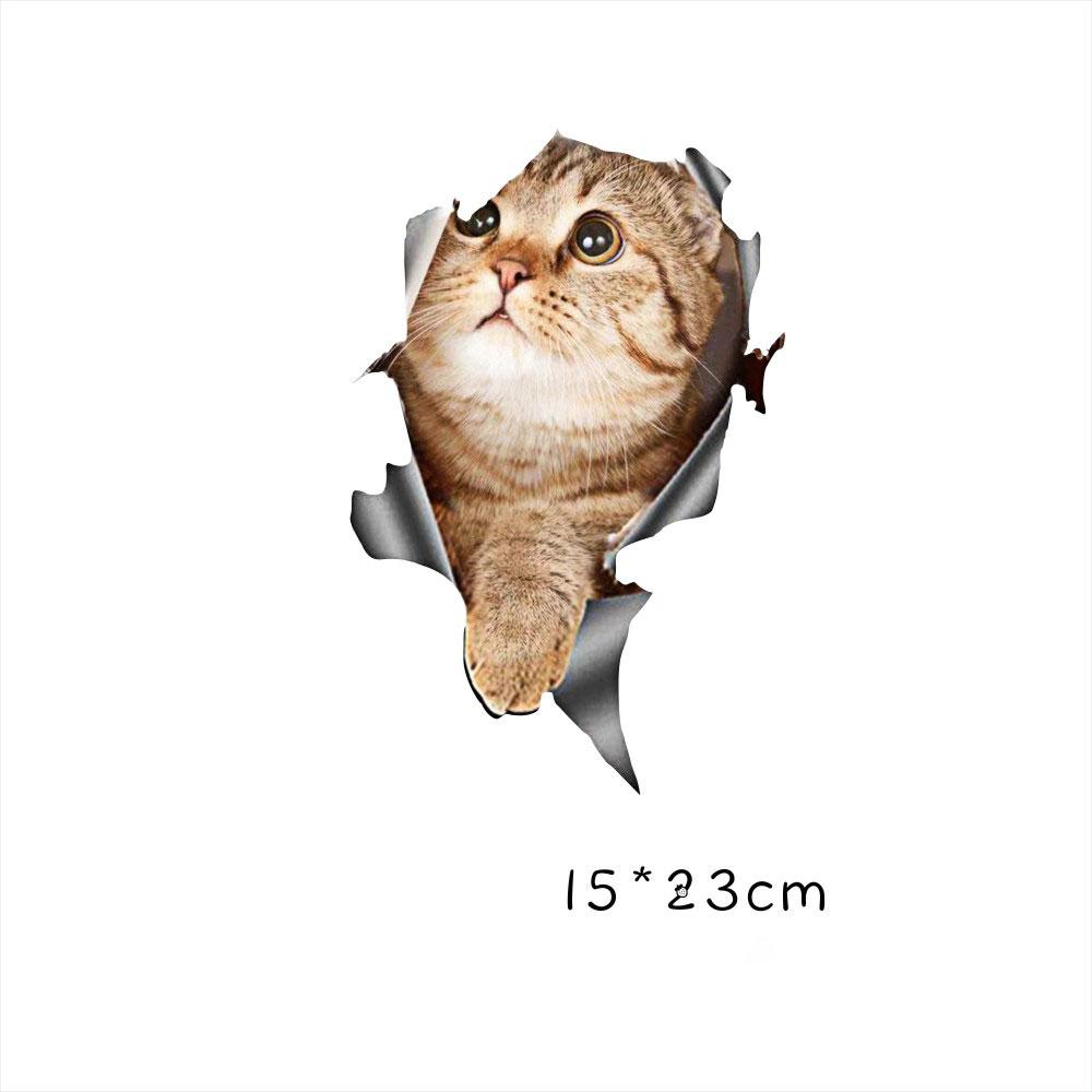 Funny Car  Sticker Body Dog Cat Puppy Scratch Paint Subsidies Cartoon Simulation Door Body Decal Orange Cat No. 2 15*23cm