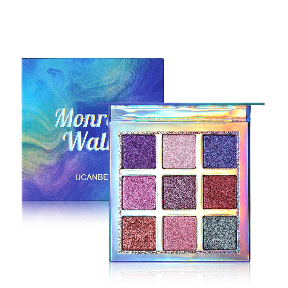 9 Colors Shimmer Matte Duochrome Gemstone Eyeshadow Palette Smooth Sparkle Eye Makeup