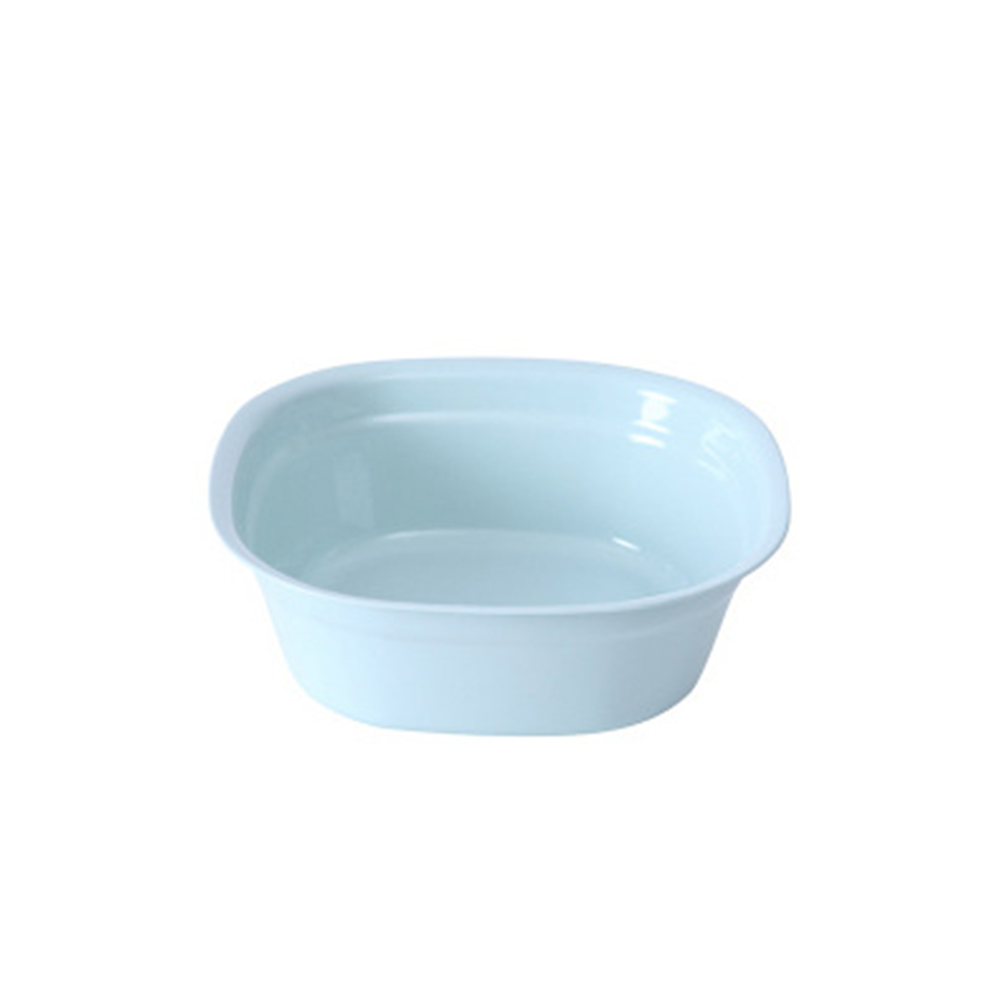 Home Square Shape Washbasin for Home Clothes Feet Washing  S - blue