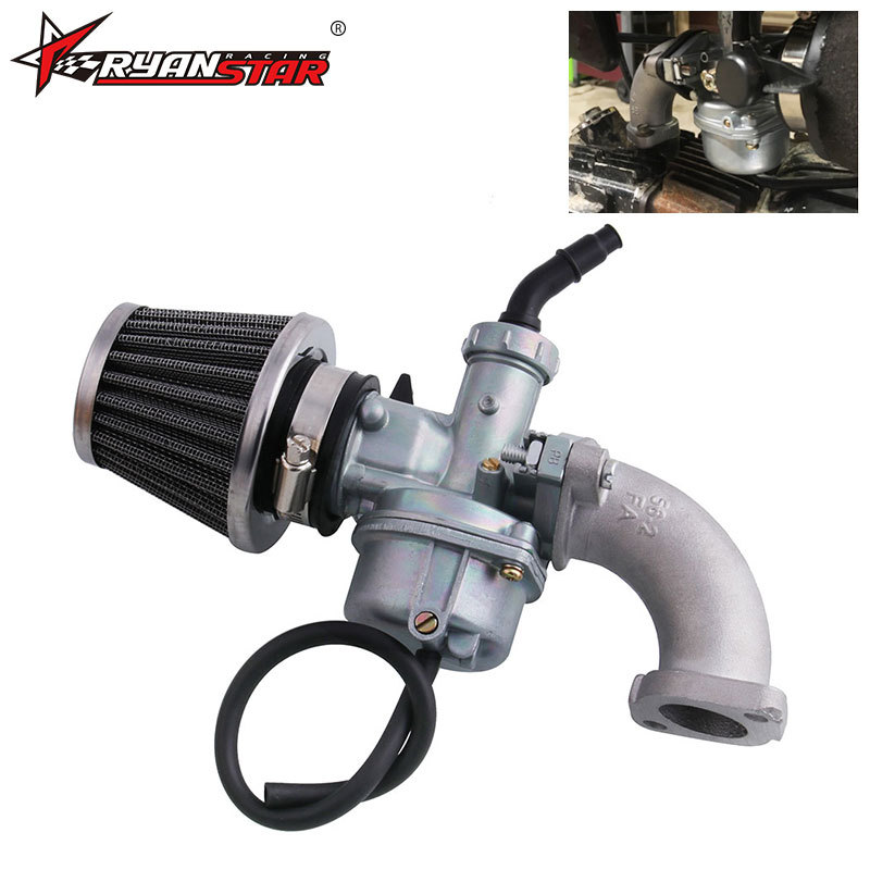 ATV Off-road Motorcycle Carburetor Air Filter+ Inlet Pipe for 110cc 125cc engine