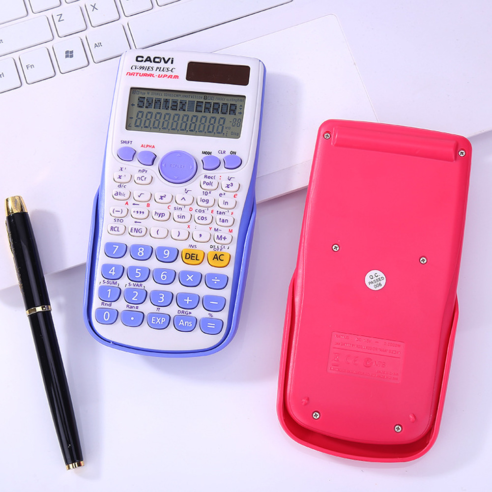 Portable Scientific Calculator Stationery School Office Tool for Student blue