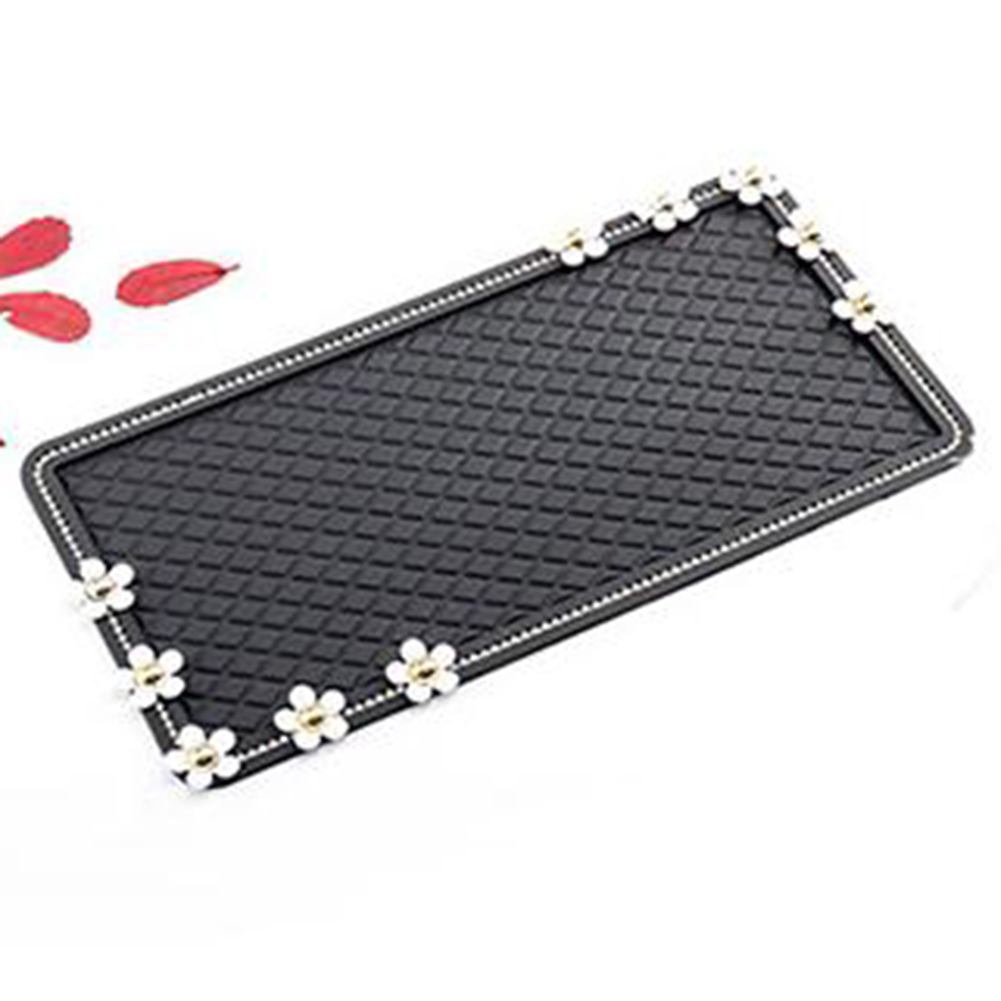 Delicate Flower Design Car Non-Slip Mat Auto Interior Dashboard Phone Anti-Slip Mat  Small double side daisy
