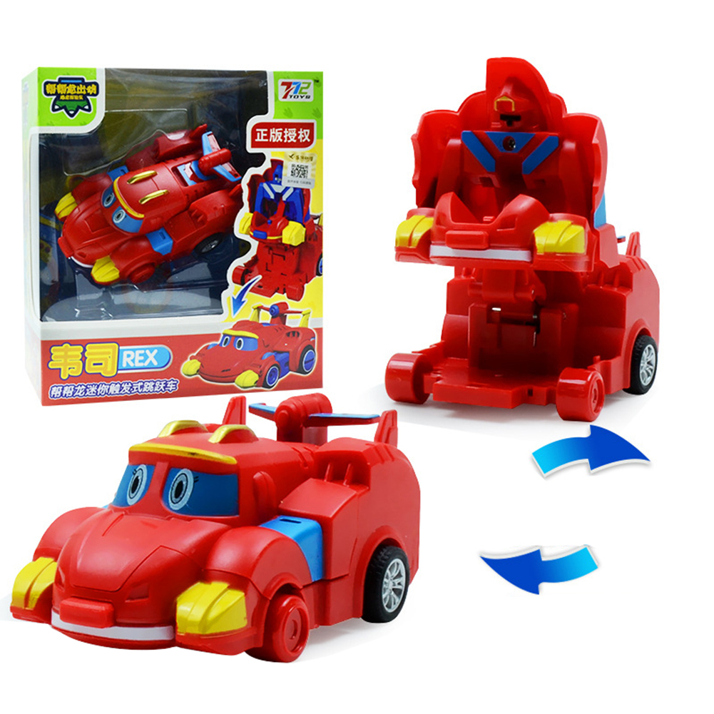 Deformation Robot Cartoon Mini Transformation Toys for Kids Boys Girls Weiss