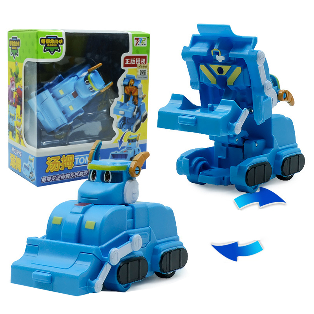 Deformation Robot Cartoon Mini Transformation Toys for Kids Boys Girls Tom Thumb