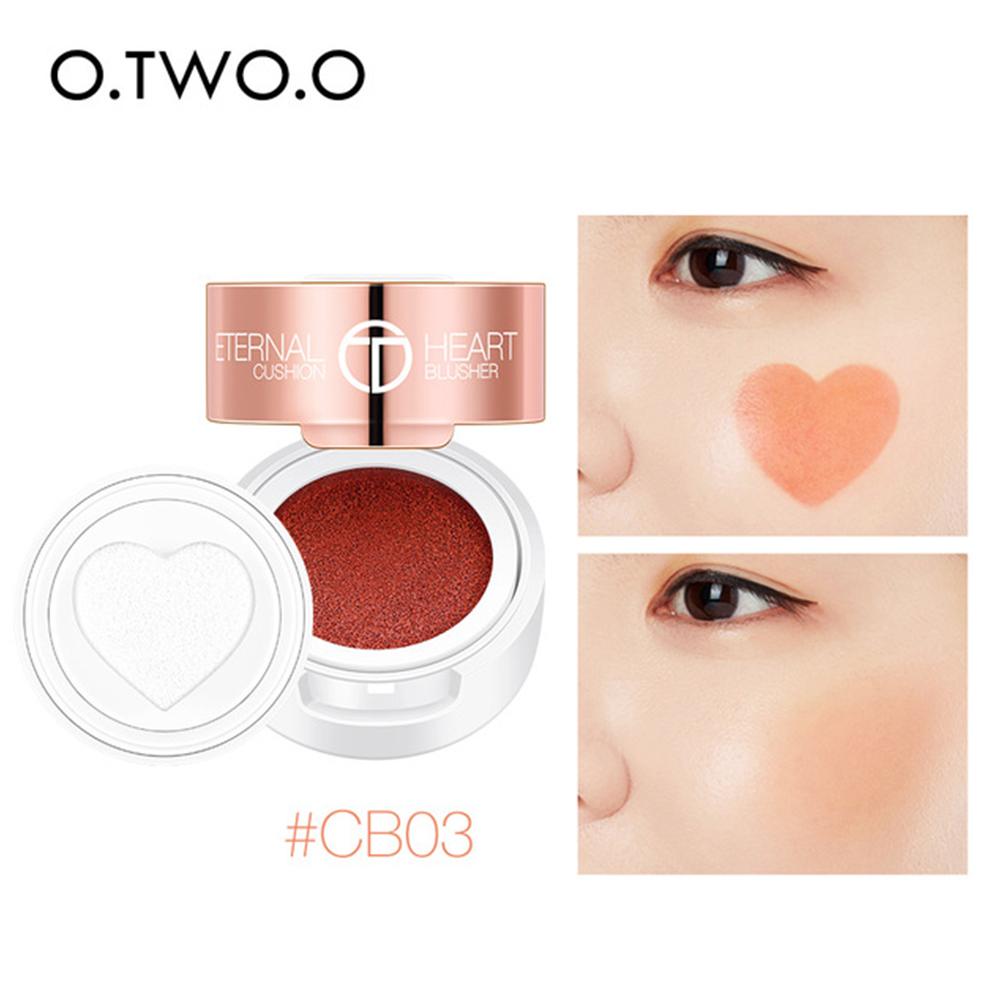 Air Cushion Blusher Heart Shape Shimmer Blush Rouge Natural Face Contour Make Up #CB03