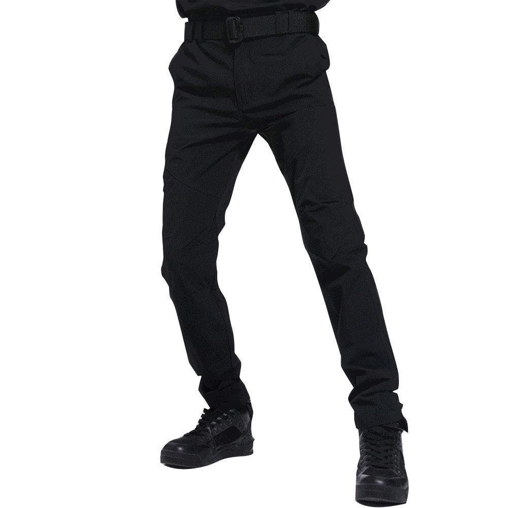 Men Thin Wear Resistant Cargo Pants with Pockets black_M