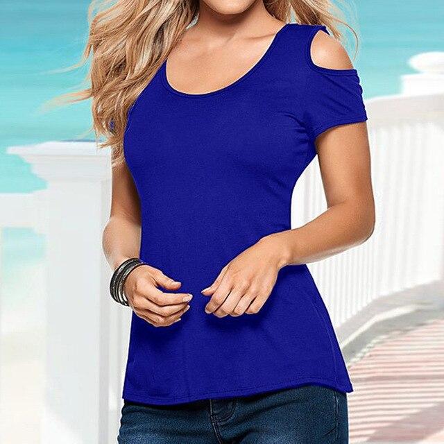 2018 Summer Blusas Sexy Women Blouses Lace Crochet Short Sleeve Backless Off Shoulder Split Tops Blouse Shirt Plus Size