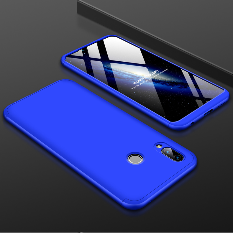 For HUAWEI Honor Play 3 in 1 360 Degree Non-slip Shockproof Full Protective Case blue