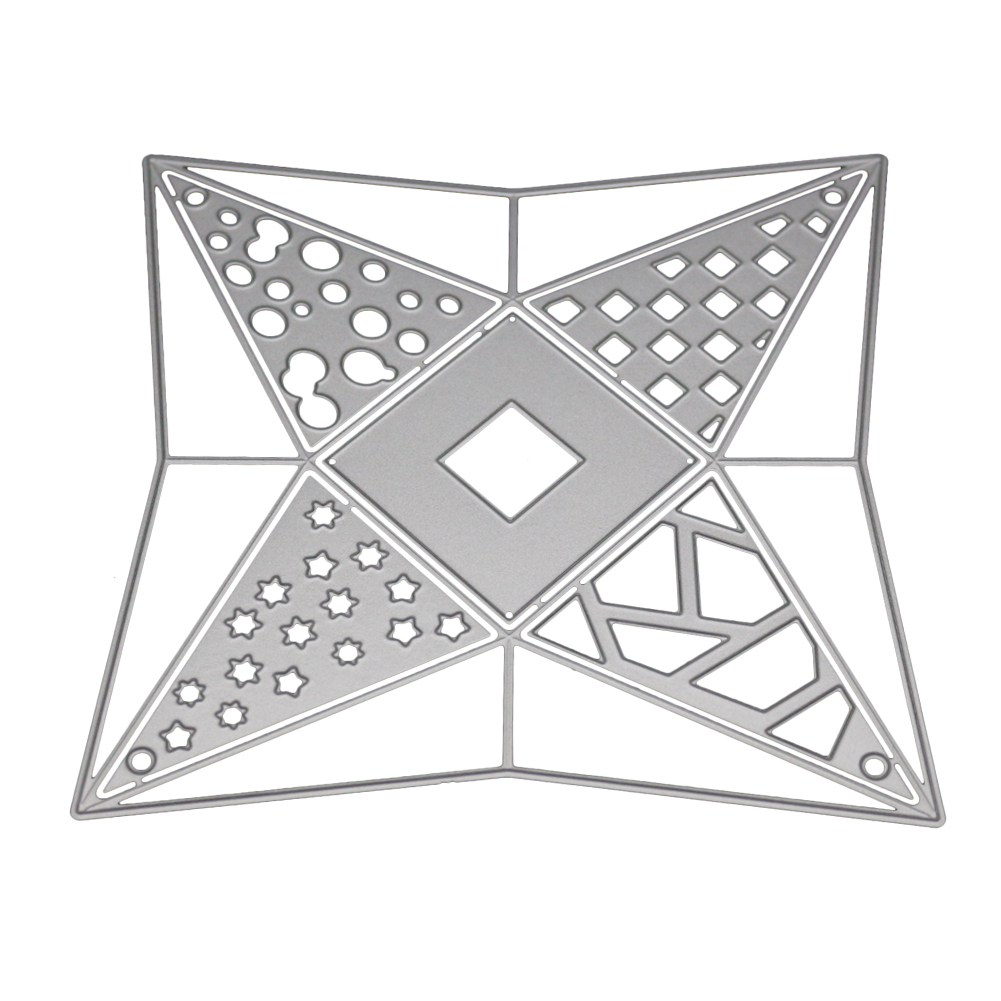 Three-dimensional Triangular Tower Metal Dies Cutting for Scrapbooking Party DIY Decorative New 2019