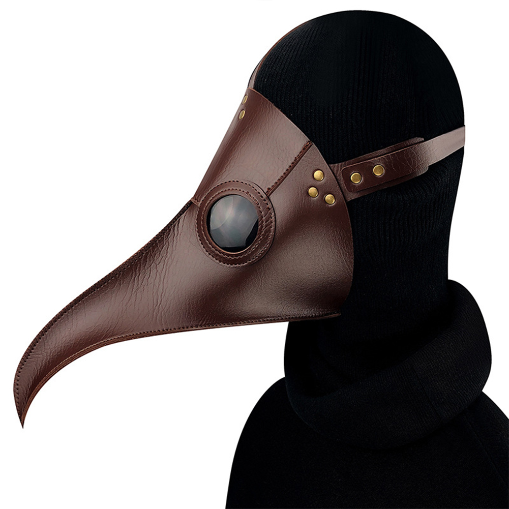 Unique Steampunk Plague Long Bird Mouth Shape Mask Halloween Party Prop