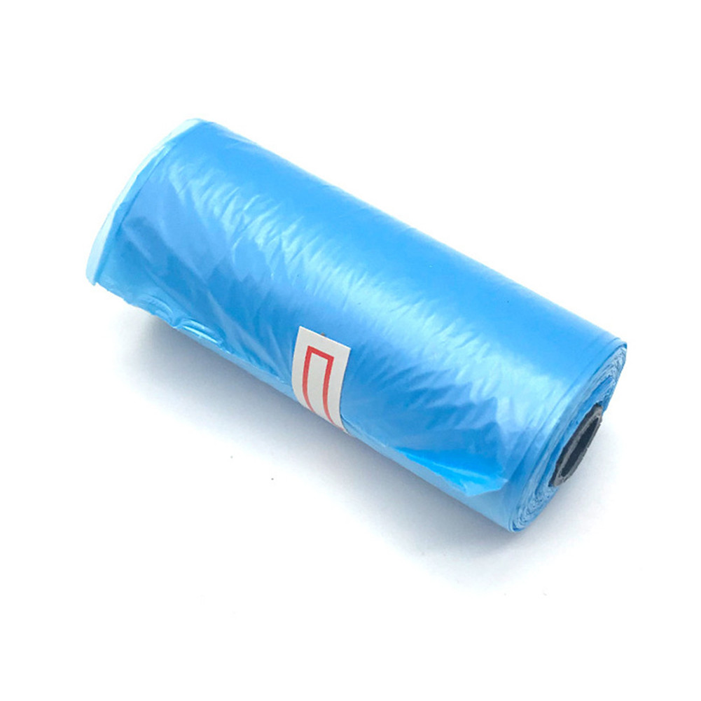 15pcs/Roll Plastic Garbage Bag Rubbish Bags Special for Baby Diapers Abandoned  blue