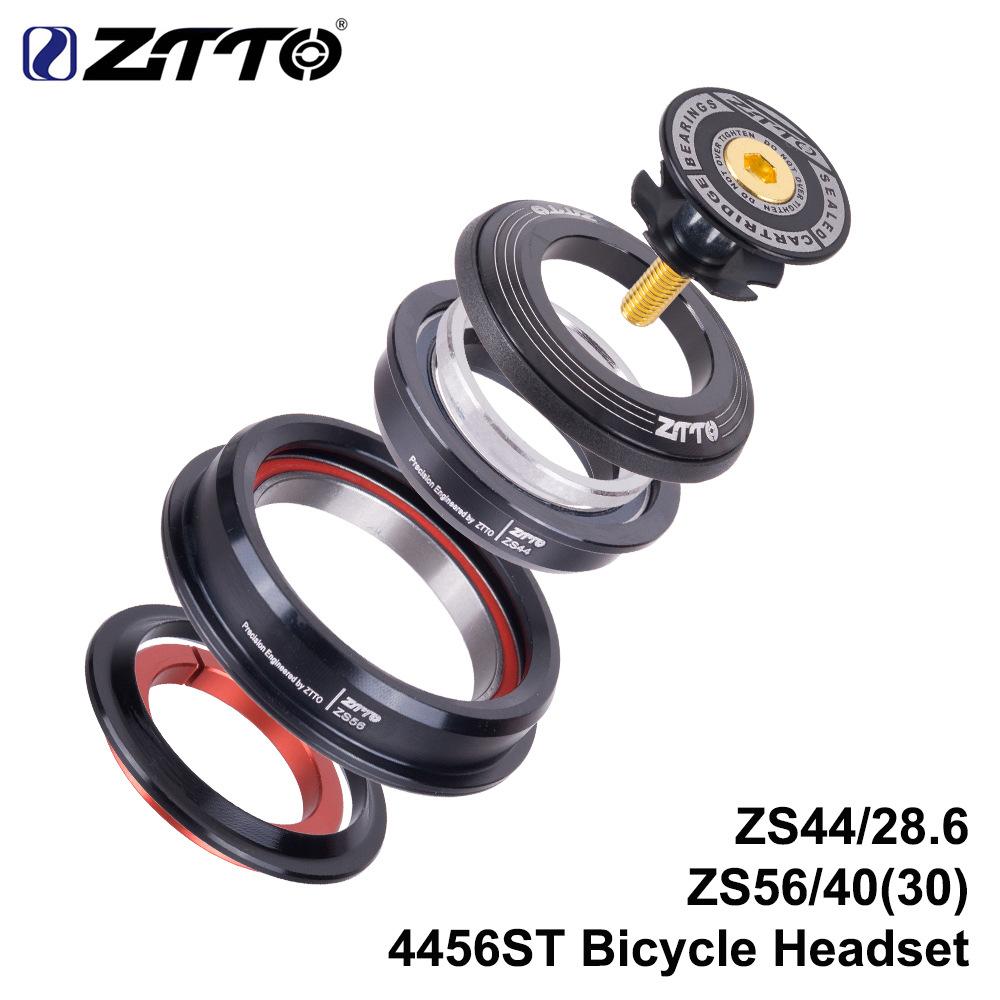 ZTTO CNC ZS44/ZS56 MTB Bike Road Bicycle Headset Tapered Tube fork Internal Threadless Bicycle Bearing Set black