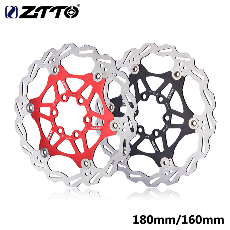ZTTO 180mm 160mm Brake Floating Rotor Stainless Steel MTB Disc Hydraulic Brake Pads Bicycle parts 180MM red