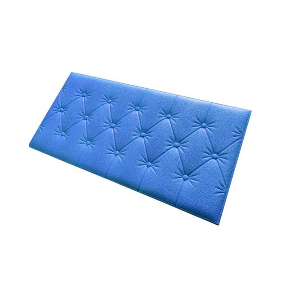 3D Foam Waterproof Self Adhesive Wallpaper for Living Room Bedroom Kids Room Nursery Home Decor blue
